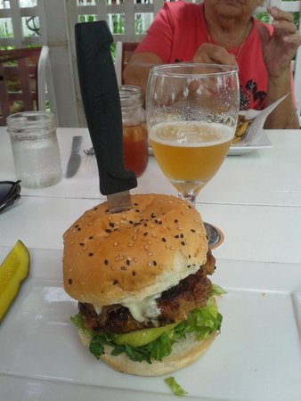 Jack's Gastropub : Pork Burger with maple bacon, green apple and blue cheese