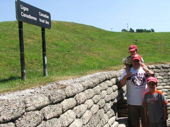 Mémorial de Vimy : Vimy Ridge trenches