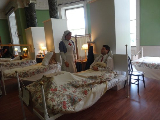 Dunham Massey Hall & Gardens: The ward -Actors playing their part