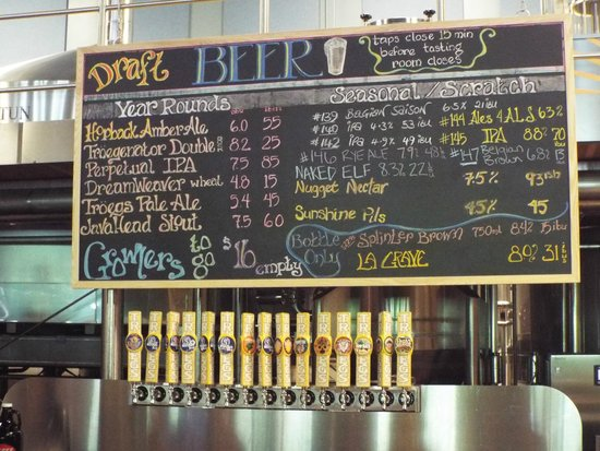 Troegs Brewing Company: the beer list and bar