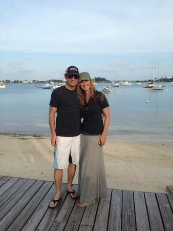 Cambridge Beaches: My wife and I on the bay side of the resort