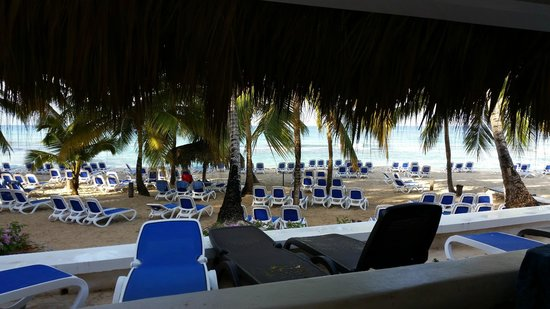 Viva Wyndham Dominicus Beach : View from ocean front bungalow patio