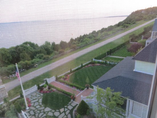 Grand Hotel: View from room (through screen so little blurry)