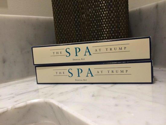 Trump International Hotel Waikiki: Toothbrushes in case you forgot yours