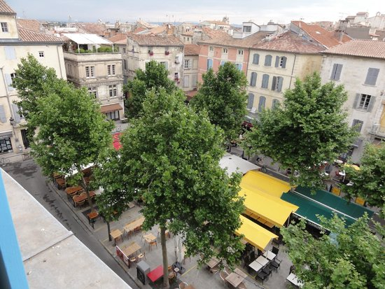 Hotel du Forum : Vista da janela do quarto 55GL
