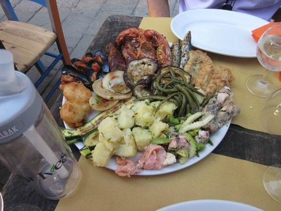 Paradiso Perduto : mixed seafood and veggie platter