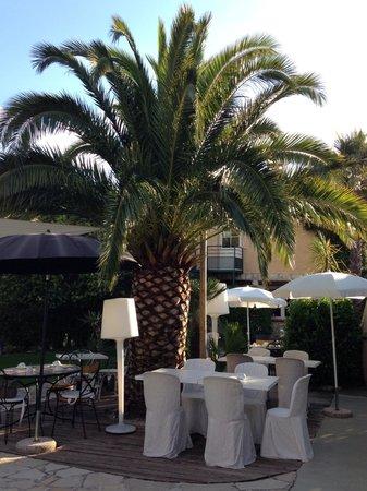 Hôtel Eze Hermitage : Giardino e ristorante