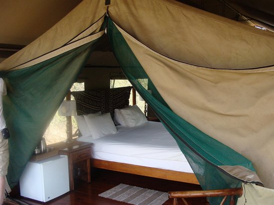 Mopaya Safari Lodge: de la terrasse, la chambre