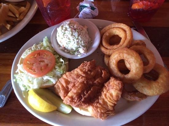The Back Porch: We love this place and their grouper sandwich is to die for!