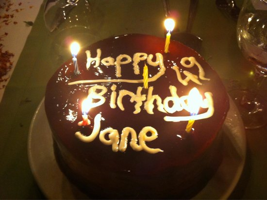 Suncity Hotel & Beach Club : Delicious birthday cake