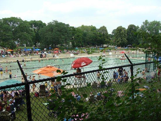 Centennial Park Beach Pool Off The Naperville Riverwalk Picture Of Riverwalk Naperville