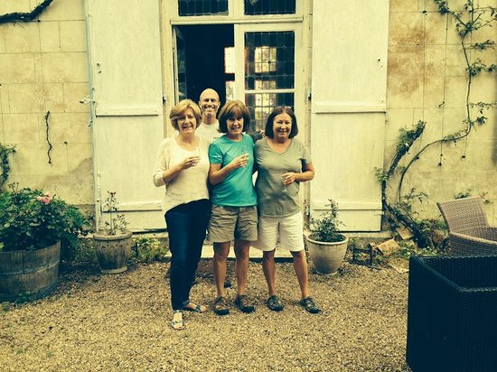 Chateau de Pintray: Toasting our arrival