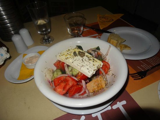 Anogi : The best Greek Salad