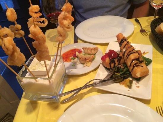 Restaurante La Tragantua: entrada deliciosa