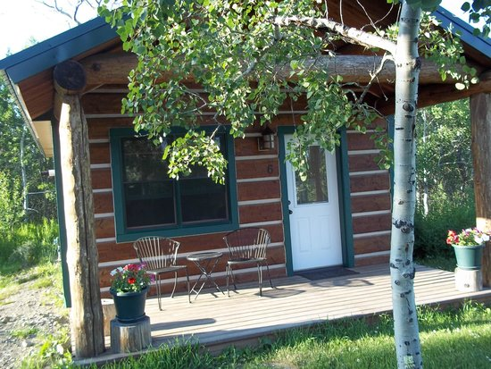 Travelers Rest Lodge: This is cabin # 8.  Most of the cabins look like this one.