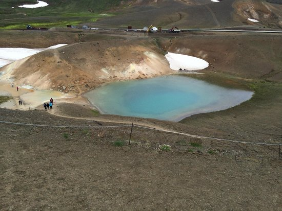 Krafla Lava Fields: Crate lake