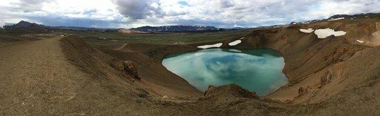 Krafla Lava Fields: Crater lake