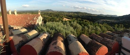 Finca Es Castell: view from the evening terrace