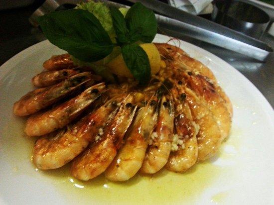 Moskar Konoba: Grilled schrimps.