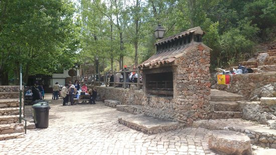 Quad Ventura : a secret village you might see. an open bbq on the main square