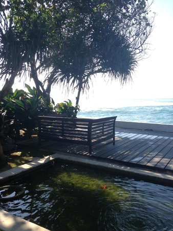 Majapahit Beach Villas: Looking out to the ocean