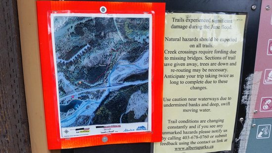 Allen Bill Pond: Reroute and notice of flood damage.