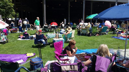 Tanglewood: Lawn seating on a Sunday.