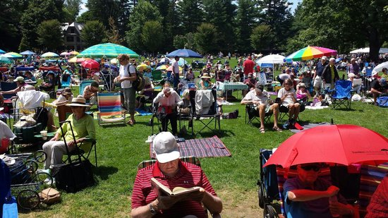 Tanglewood: Lawn seating on a busy Sunday