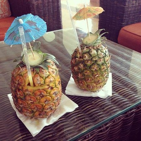 Majestic Colonial Punta Cana : They were giving out Pineapple filled with Majestic!