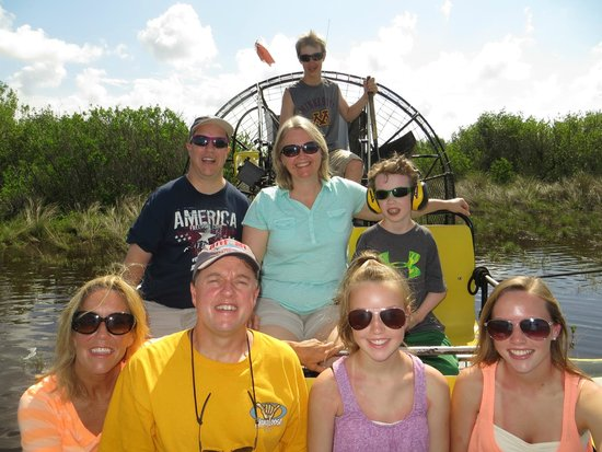 Speedy's Airboat Tours: Whole Family on the airboat