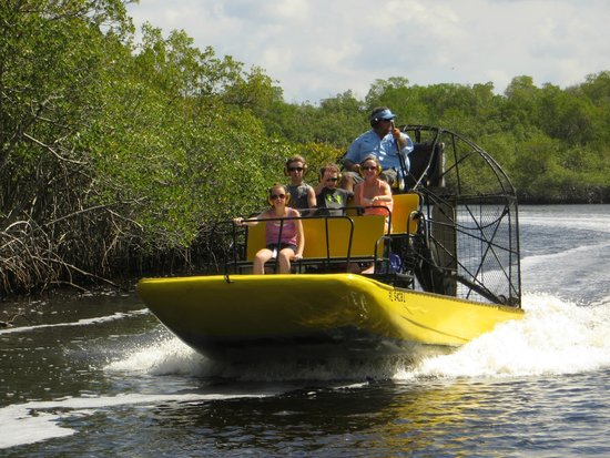 Speedy's Airboat Tours: The kids going fast with Captain Fred!