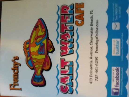 Frenchy's Saltwater Cafe : Menu cover