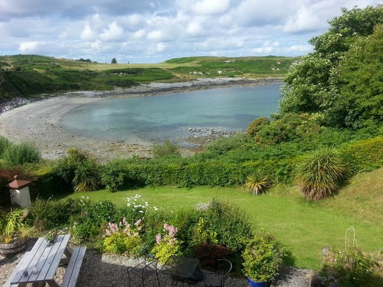 Dunvalanree: view to bay from garden