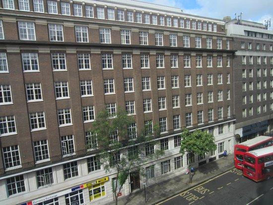Morton Hotel: View from bedroom II (on busier street)