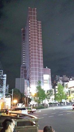 Shinjuku Prince Hotel: Hotel view walking from Shinjuku JR station