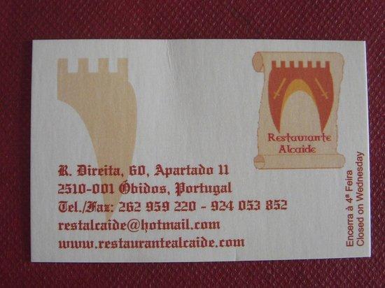 O Alcaide: ストアネームカード
