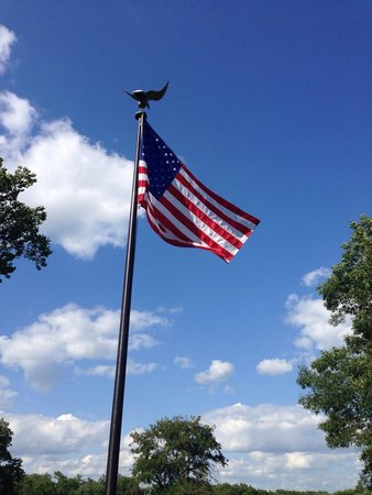 Herbert Hoover National Historic Site: Flag above resting place.