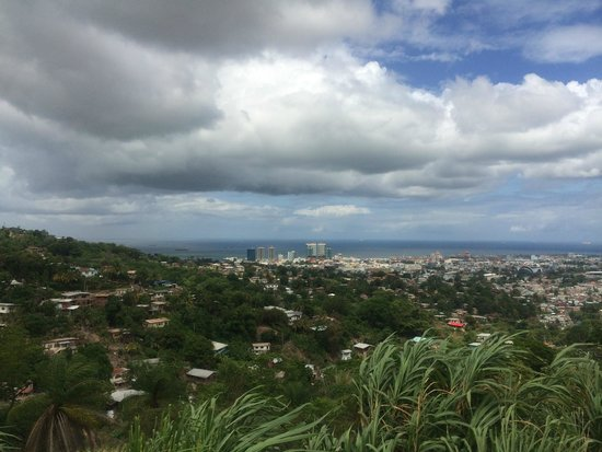 View on the drive to Maracas Bay- Port of Spain city view