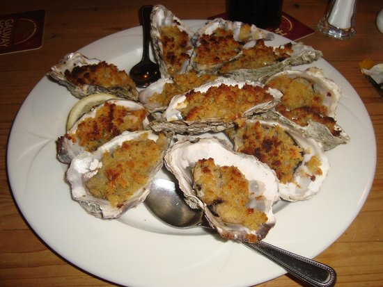 Morans Oyster Cottage : Baked oysters