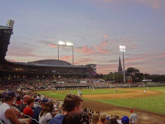 Baseball Grounds of Jacksonville: Beautiful park with a beautiful sunset in the background