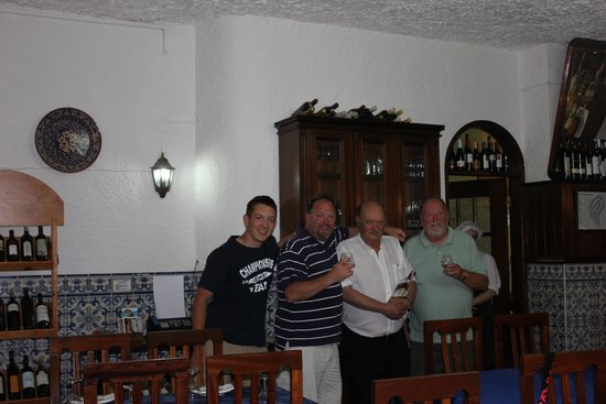 Vila Infanta: the host posed with us
