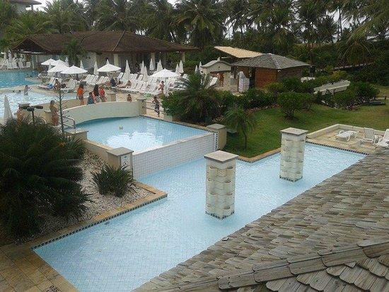 Sauipe Resorts: Vista da recepção da piscina 1 e espelho d'água e chafariz