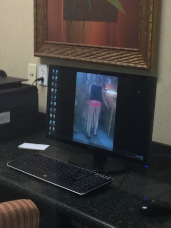 Country Inn & Suites By Carlson, Summerville: vulgar picture on business center computer