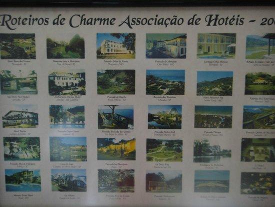Hotel e Fazenda Rosa dos Ventos: Hotéis pertencentes ao Roteiro de Charme, do qual do Rosa dos Ventos faz parte.