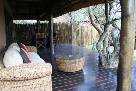 Naledi Bushcamp and Enkoveni Camp: The deck for Paperbark Suite