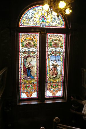 Copper King Mansion: Stained glass
