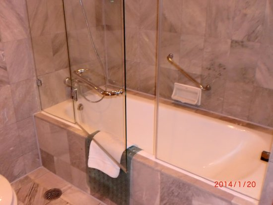 Rembrandt Hotel Bangkok: ガラス張りの浴槽