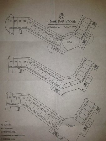 Overleaf Lodge & Spa: Resort layout...
