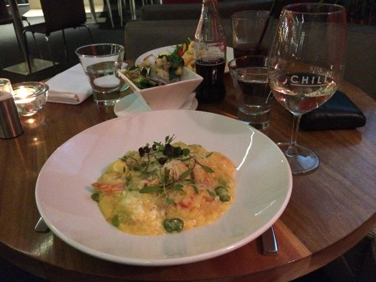 Mantra Bell City: CHILL restaurant & bar, goats cheese risotto