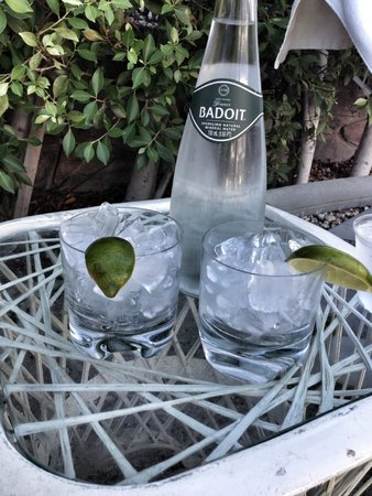Avalon Hotel and Bungalows Palm Springs: Drinks and snack by the pool